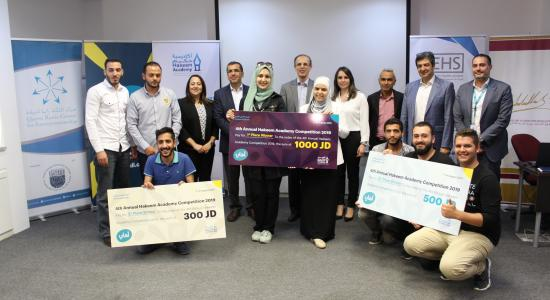 Winners of the 4th Hakeem Academy Annual Competition for Jordanian Universities announced